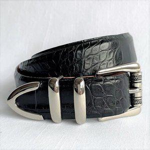 NWT Martin Dingman Signed Alligator Leather Belt